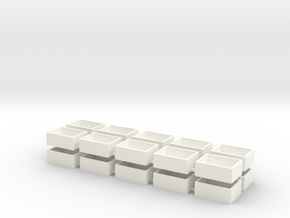 20 Pack Speaker Box Closed - 18mm x 13mm x 7mm  in White Processed Versatile Plastic