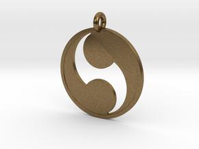 Futatsudomoe in Natural Bronze
