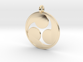 Mitsudomoe in 14k Gold Plated Brass