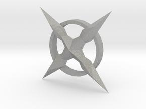 MALX X CROSS PENDENT in Aluminum