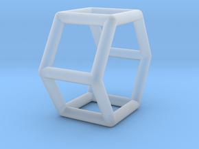 0421 Hexagonal Prism (a=1cm) #001 in Frosted Ultra Detail