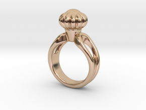 Ring Beautiful 19 - Italian Size 19 in 14k Rose Gold Plated Brass