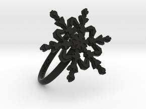 Snowflake Ring 2 d=18.5mm h21d185 in Black Natural Versatile Plastic