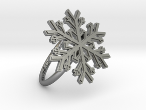 Snowflake Ring 1 d=18.5mm h21d185 in Natural Silver