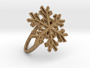 Snowflake Ring 1 d=18.5mm h21d185 in Natural Brass