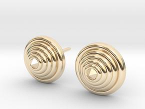 Lux spike Earrings in 14k Gold Plated Brass