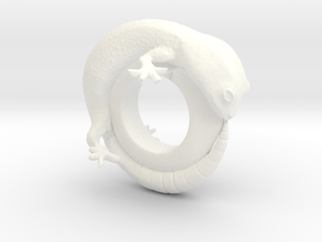 Gecko Ring     Size 5 in White Processed Versatile Plastic