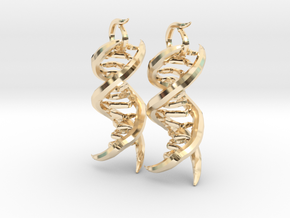 CeDNA in 14k Gold Plated Brass
