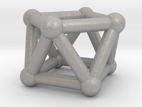 0443 Square Antiprism (a=1cm) #002 in Aluminum
