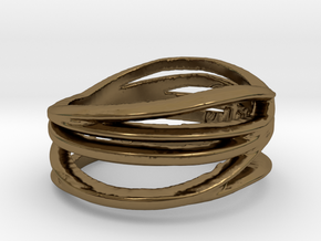 Simple Classy Ring Size 8 in Polished Bronze