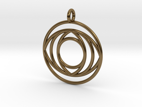 EyePendant in Polished Bronze