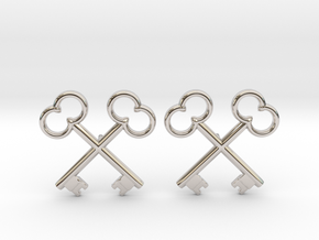 The Society of the Crossed Keys Lapel Pins in Rhodium Plated Brass