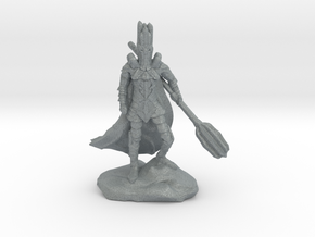 The Dark Lord with His Deadly Mace in Polished Metallic Plastic