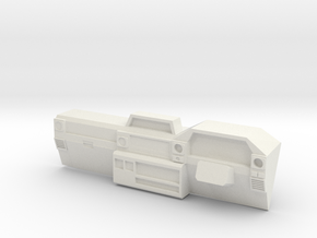 Dash for 1:10 scale LandCruiser FJ 70 body in White Natural Versatile Plastic