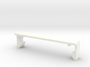 SCX10 Body/Tray Clip Mount in White Processed Versatile Plastic