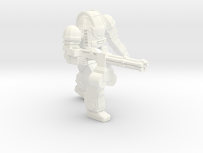 Ogre MKII Heavy Rotary Cannon (Free Download) in White Processed Versatile Plastic