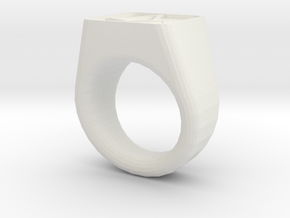 Assassin's Signet Ring in White Strong & Flexible