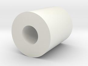 Handle Bushing in White Natural Versatile Plastic