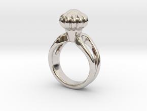 Ring Beautiful 33 - Italian Size 33 in Rhodium Plated Brass