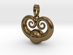 Sea World Pendant in Polished Bronze