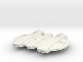 Federation L-Type Cruiser - 27mm in White Natural Versatile Plastic