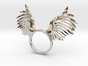 Nipple shield owl wings in Platinum