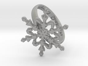 Snowflake Ring 2 d=19.5mm h35d195 in Aluminum