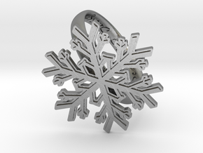 Snowflake Ring 1 d=19.5mm h35d195 in Natural Silver