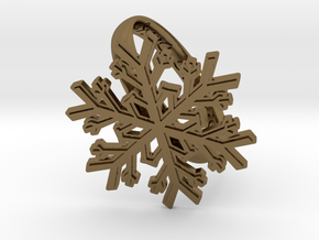 Snowflake Ring 1 d=19.5mm h35d195 in Polished Bronze