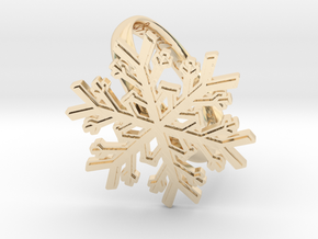 Snowflake Ring 1 d=19.5mm h35d195 in 14K Yellow Gold