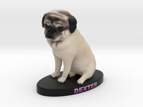 Custom Dog Figurine - Dexter in Full Color Sandstone