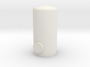 HO Vertical Tank H37mm in White Natural Versatile Plastic