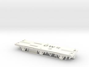 00 GWR Sausage Van Chassis in White Processed Versatile Plastic