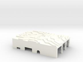 Raspberry Pi case top part Halo Style in White Processed Versatile Plastic