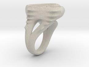 RING WOMEN 17mm in Natural Sandstone