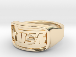 Ring USA 57mm in 14K Yellow Gold