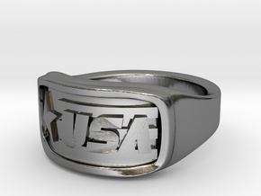 Ring USA 62mm in Fine Detail Polished Silver
