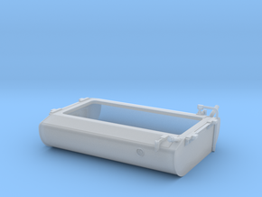 FT0011 GP40-2W Short Fuel Tank, Rebuilt 1/87.1 in Smoothest Fine Detail Plastic
