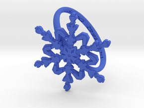Snowflake Ring 2 d=19.5mm h21d195 in Blue Processed Versatile Plastic