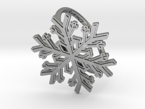 Snowflake Ring 1 d=19.5mm h21d195 in Natural Silver