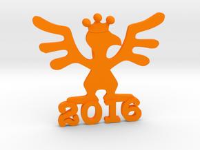 2016 Kinetic Bribe (Small) V2 in Orange Processed Versatile Plastic