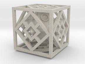 Bipyramidal Cube in Natural Sandstone