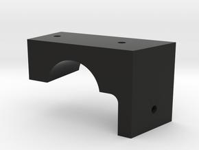 CAC Boomerang Lwr Panel Mount in Black Natural Versatile Plastic