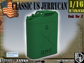 1-16 Jerrycan US Army in Green Processed Versatile Plastic