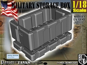 1-18 Military Storage Box in White Processed Versatile Plastic