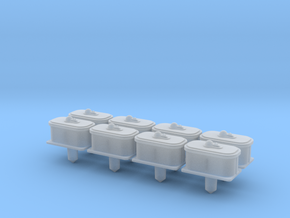 """""""O"""" SCALE!  8PK PRR Air Valve for Switch Machines in Smooth Fine Detail Plastic"""