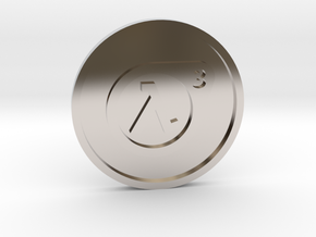 Half-Life 3 Lucky Coin in Rhodium Plated Brass