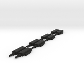 """""""O"""" SCALE!!! 4 LH & 4 RH PRR Style Pneumatic Switc in Black Strong & Flexible"""