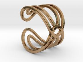 Geometri-K waves ring size 6 Small medium in Polished Brass