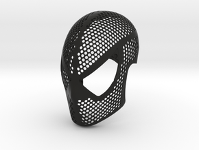 Symbiote Face Shell  - Black Suit Mask Raimi in Black Natural Versatile Plastic: Medium